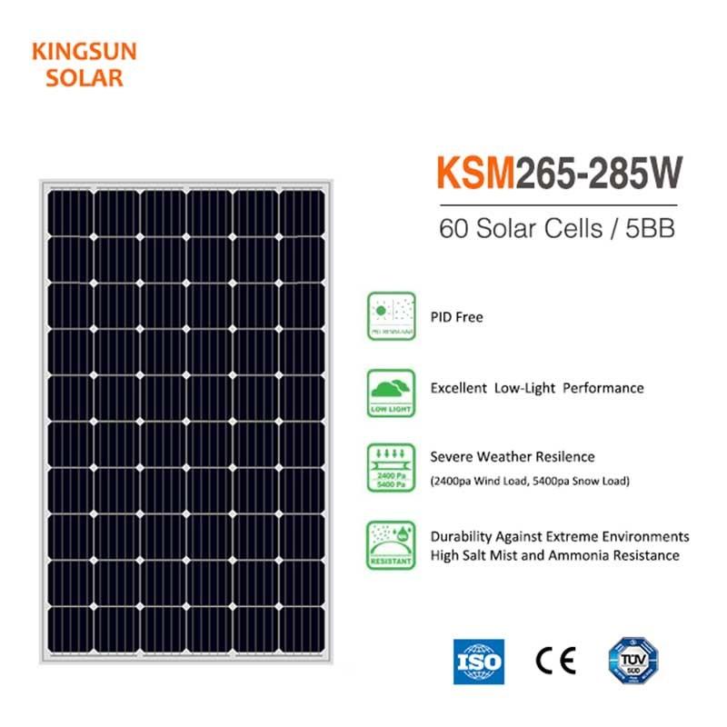 KSUNSOLAR Top monocrystalline silicon panels price for Energy saving