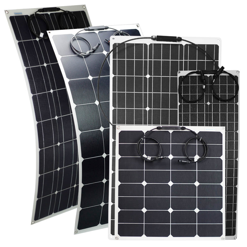 100W Semi-Flexible Solar Panel flexi panels