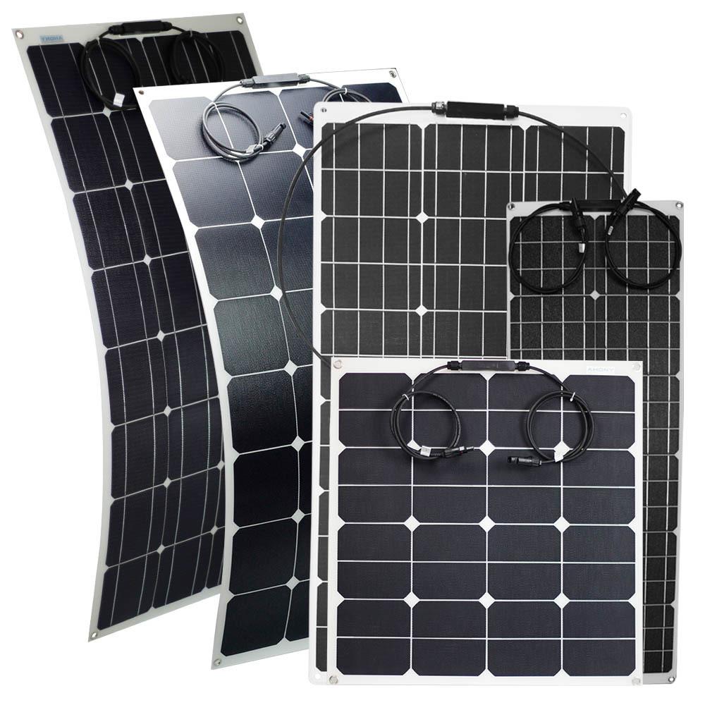 100W Semi-Flexible Solar Panel flexi panels