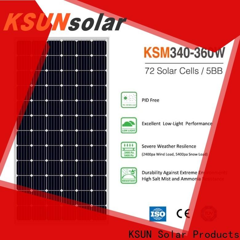 KSUNSOLAR monocrystalline silicon solar panels price For photovoltaic power generation