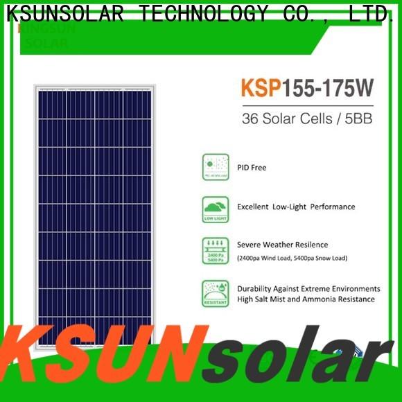 KSUNSOLAR polysilicon solar panels Supply For photovoltaic power generation