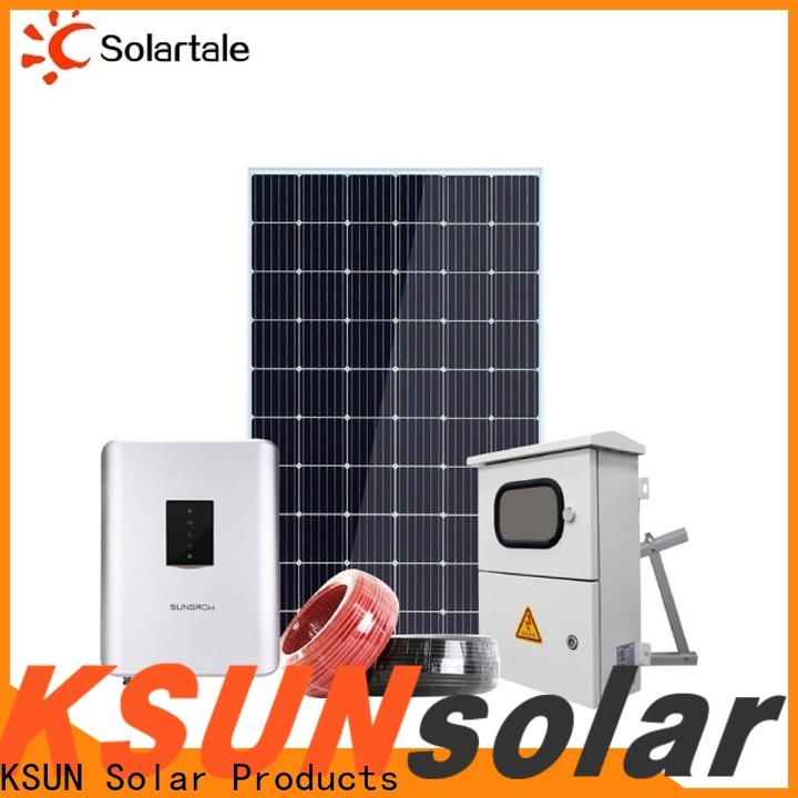 KSUNSOLAR grid tied solar kit Supply for Power generation
