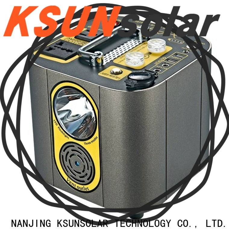 KSUNSOLAR rechargeable portable power generator factory for powered by