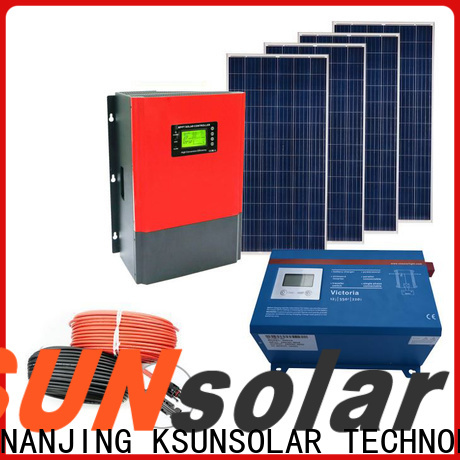 KSUNSOLAR Wholesale solar system equipment factory for Environmental protection