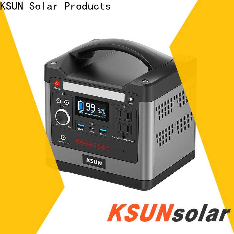 KSUNSOLAR Custom portable power station with solar for powered by