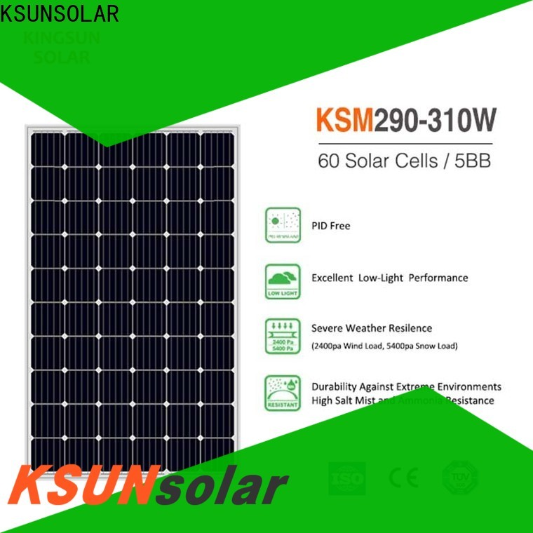 KSUNSOLAR Top monocrystalline silicon panels price factory for powered by