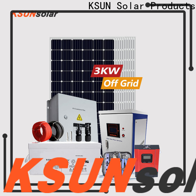 KSUNSOLAR Best off grid solar panel kits for sale Suppliers for Power generation