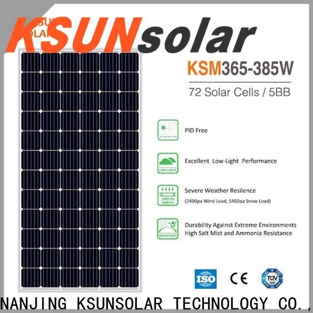 Latest monocrystalline silicon solar panels for Environmental protection