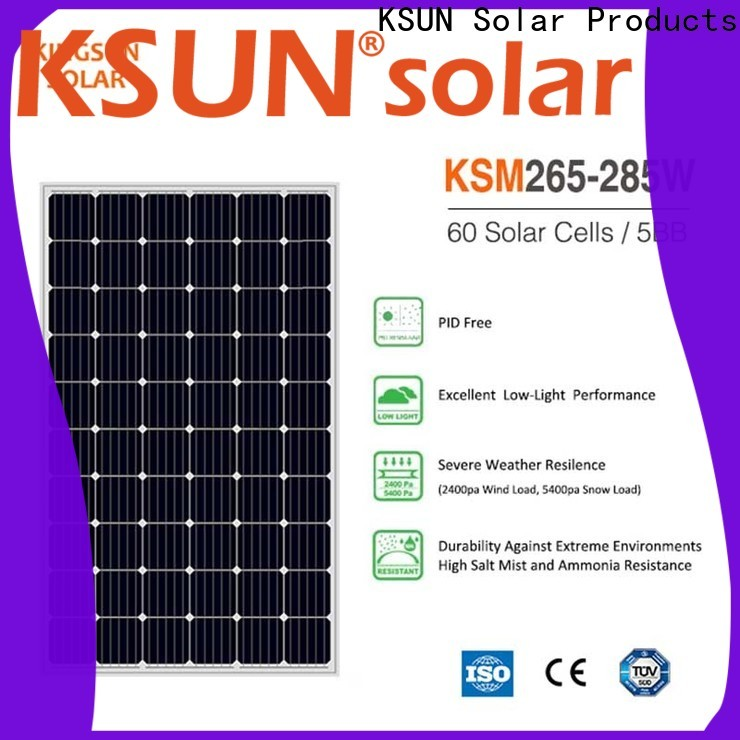 KSUNSOLAR monocrystalline silicon solar panels price for powered by