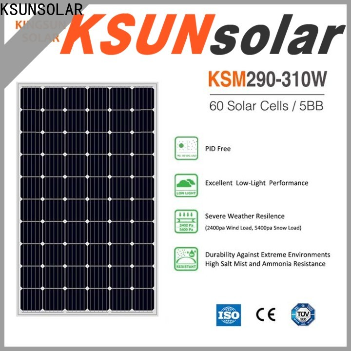 KSUNSOLAR mono silicon solar panels company For photovoltaic power generation