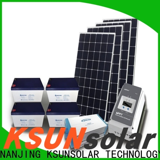 KSUNSOLAR Best hybrid solar system price for business for Power generation