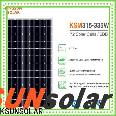 KSUNSOLAR monocrystalline silicon panels price Supply for Energy saving