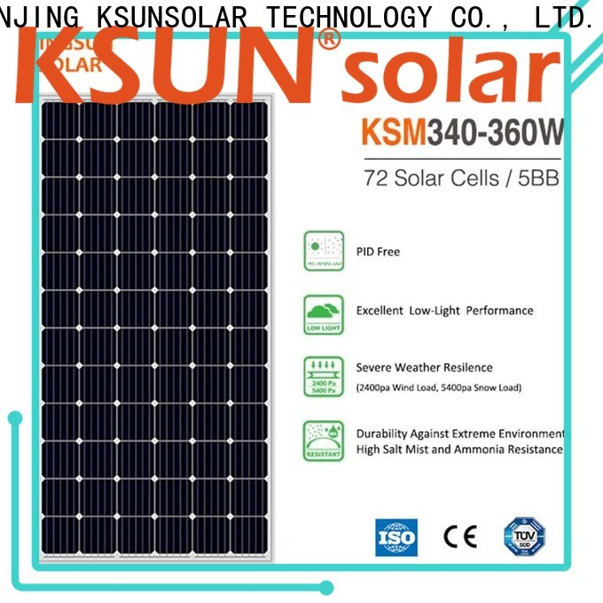 KSUNSOLAR monocrystalline panels price factory for powered by