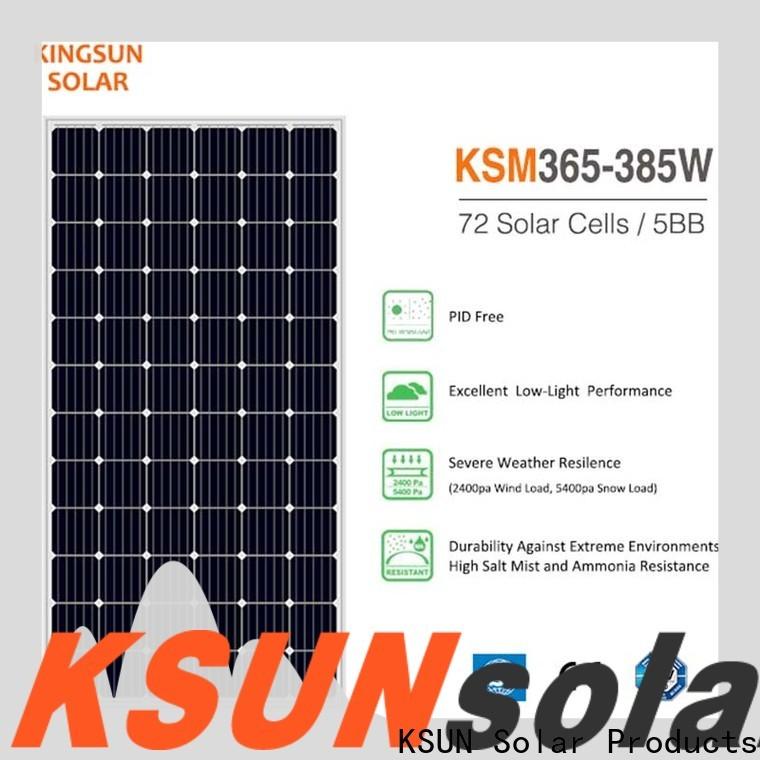 KSUNSOLAR Latest best monocrystalline solar panel brands for business for Energy saving