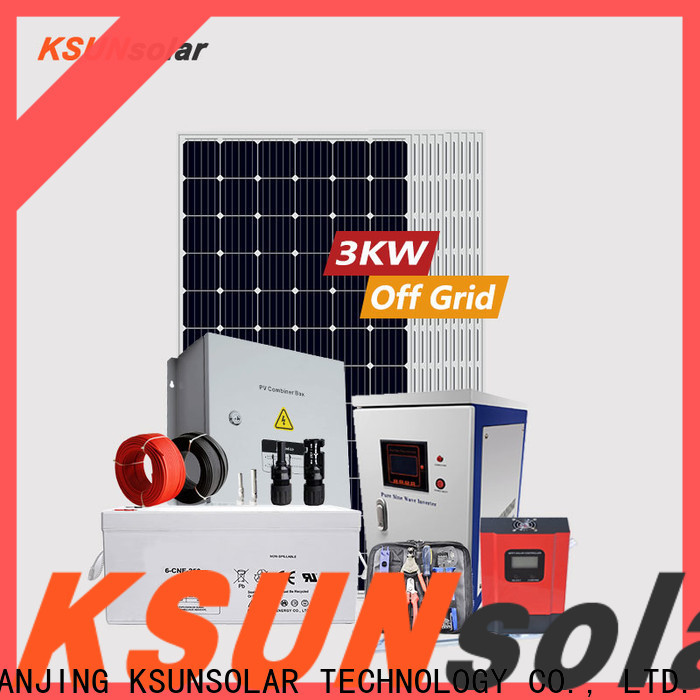 Best off grid solar panel kits for home manufacturers For photovoltaic power generation
