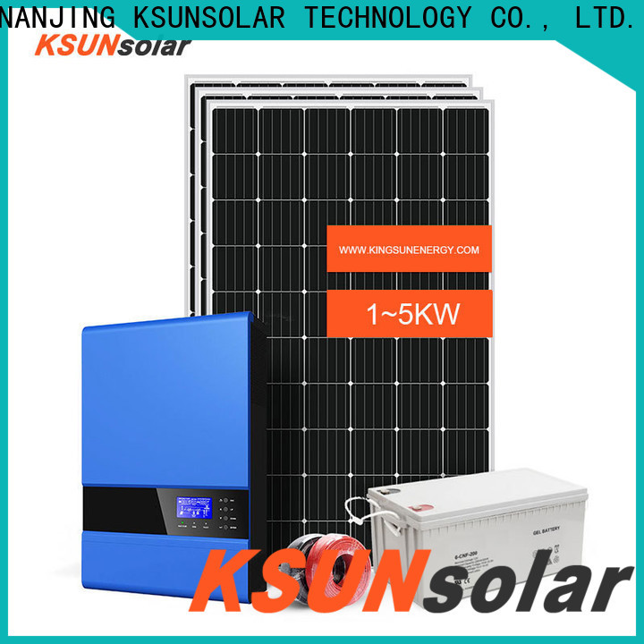 KSUNSOLAR off grid solar panel kits for sale manufacturers for Power generation