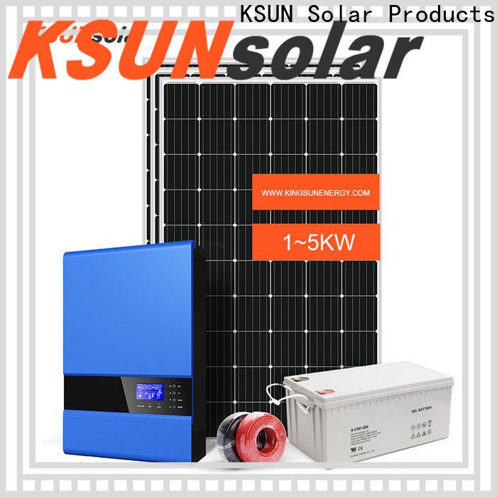 KSUNSOLAR Best off grid solar system suppliers factory for Power generation