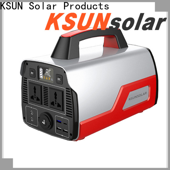 KSUNSOLAR portable power station solar generator company for Environmental protection