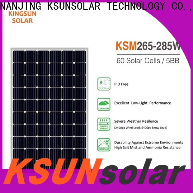 KSUNSOLAR Top monocrystalline panels price manufacturers for Environmental protection