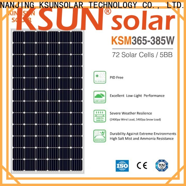 KSUNSOLAR monocrystalline solar panel Supply for Environmental protection