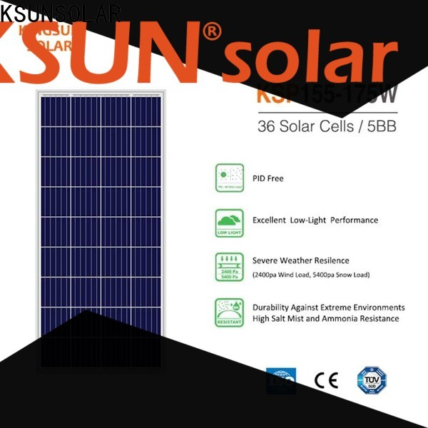 KSUNSOLAR Top poly panel manufacturers factory for powered by