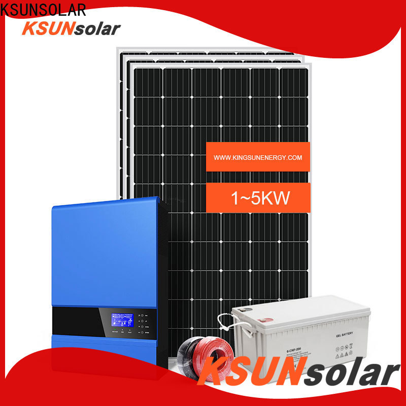 KSUNSOLAR off grid solar system suppliers company For photovoltaic power generation