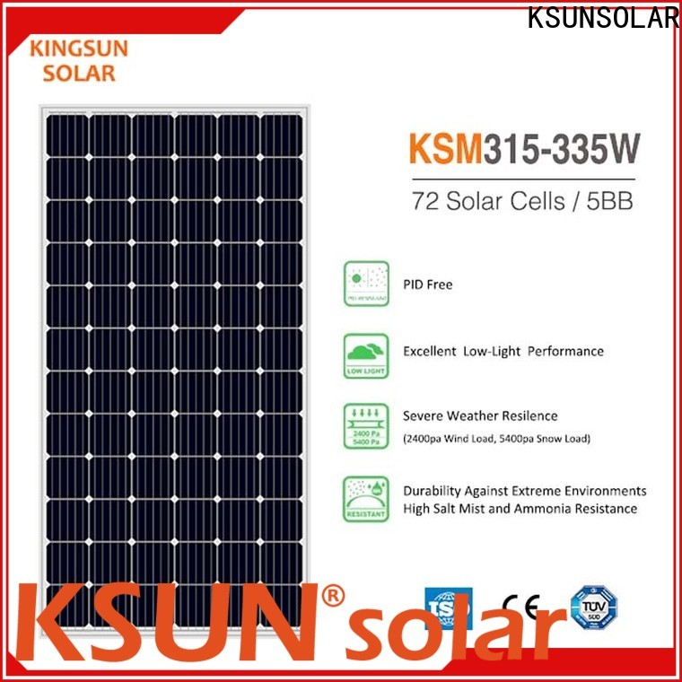 KSUNSOLAR Top monocrystalline silicon solar module for powered by