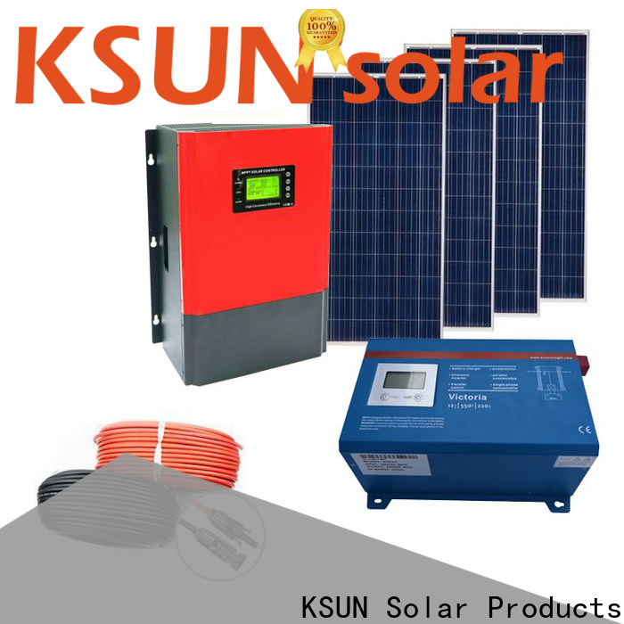KSUNSOLAR Top best off grid solar system manufacturers for powered by