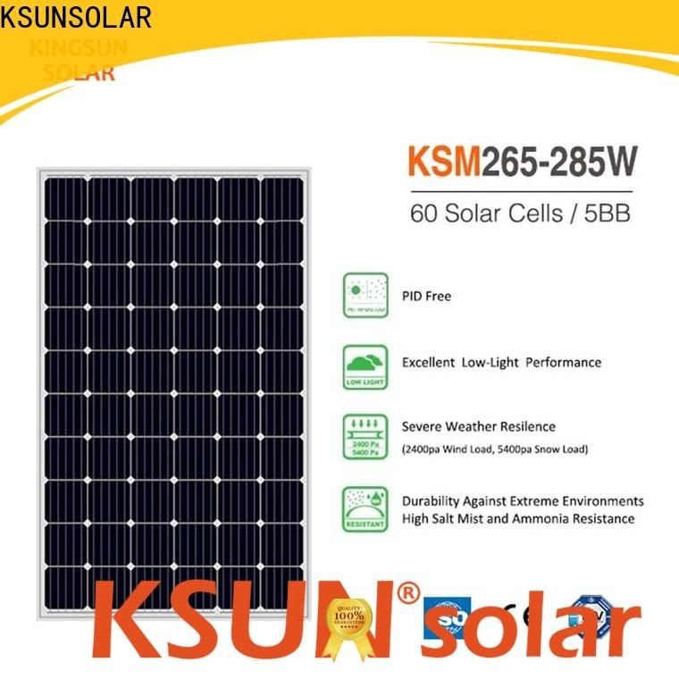 KSUNSOLAR Best monocrystalline silicon solar panels price manufacturers for Energy saving