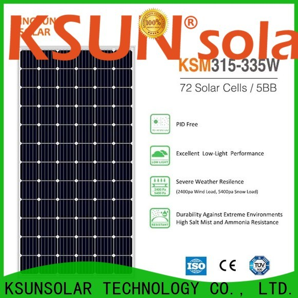 KSUNSOLAR Latest monocrystalline silicon solar panel for business for powered by