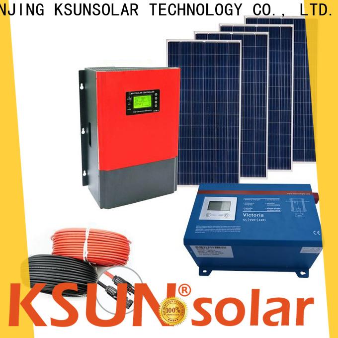 KSUNSOLAR off grid solar panel kits for sale company for Environmental protection