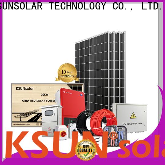 KSUNSOLAR Wholesale solar power system company for Energy saving