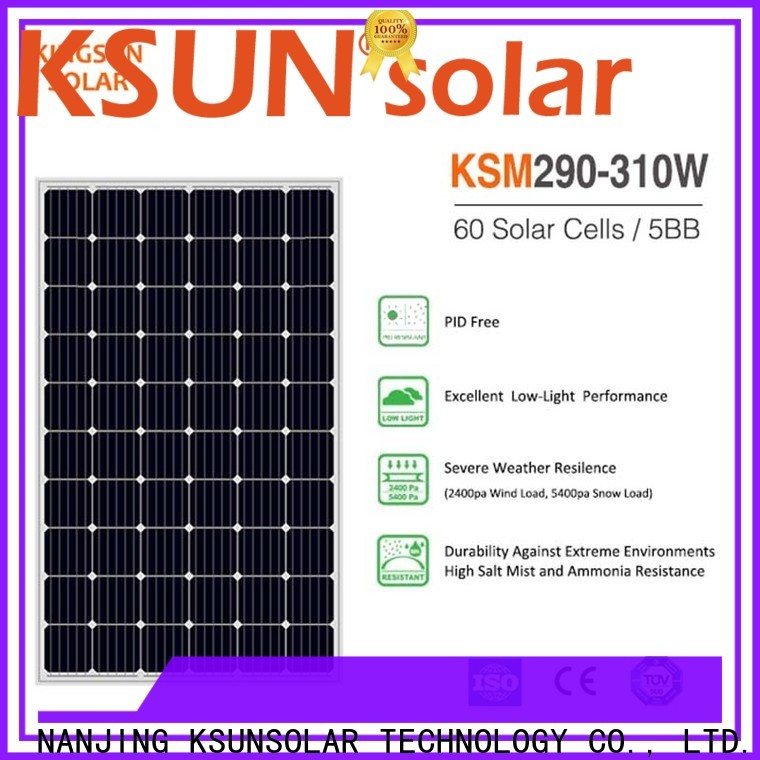 KSUNSOLAR mono silicon solar panels factory for powered by