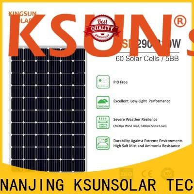 KSUNSOLAR High-quality monocrystalline silicon solar panels price company For photovoltaic power generation