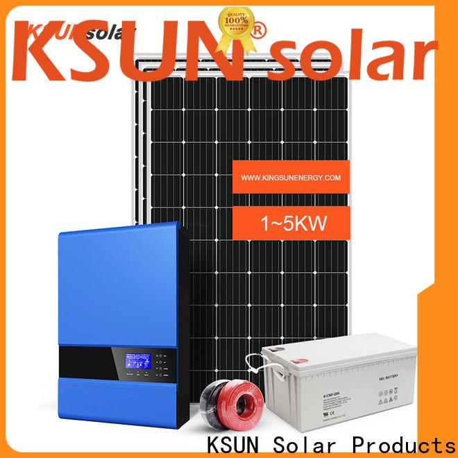 KSUNSOLAR Custom off grid solar panel kits company for Power generation