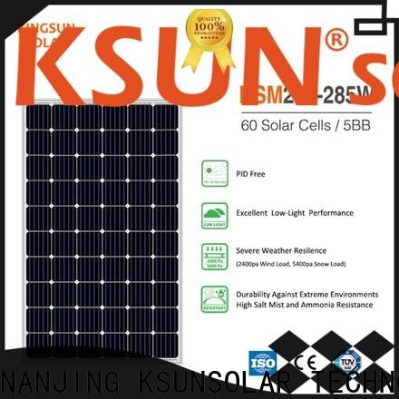 KSUNSOLAR Best monocrystalline solar panels for sale factory for Environmental protection