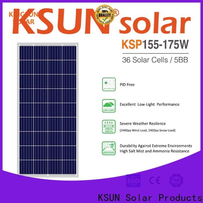 KSUNSOLAR Wholesale polycrystalline solar panels cost Supply for Energy saving