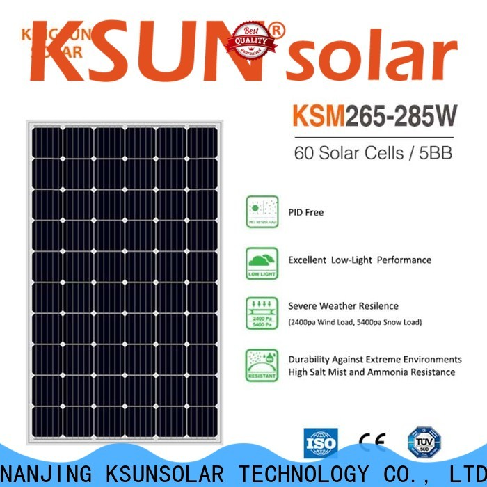 KSUNSOLAR mono solar panels for sale company For photovoltaic power generation