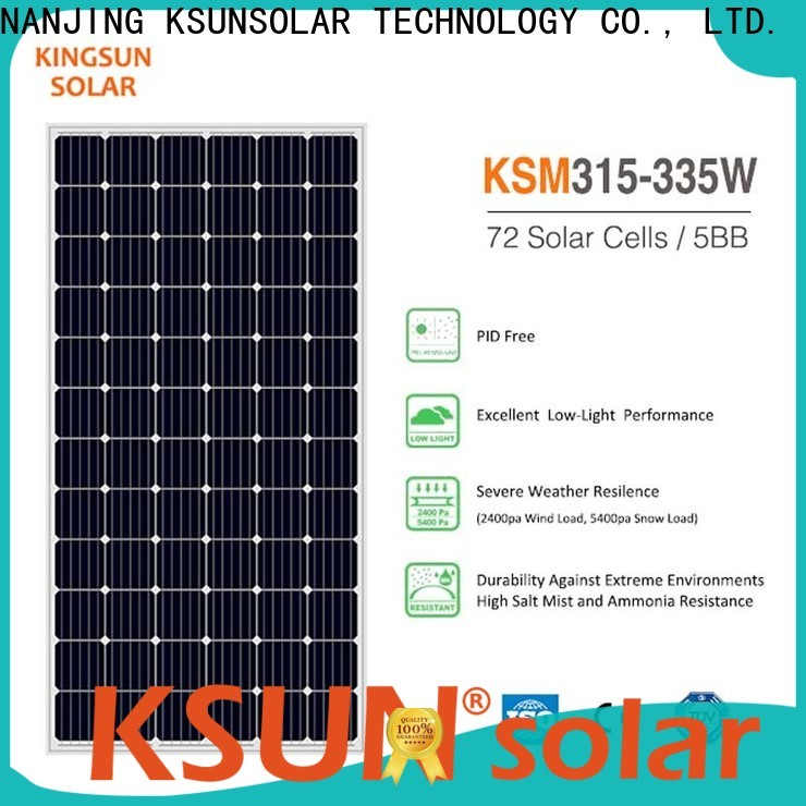 KSUNSOLAR High-quality monocrystalline silicon solar module for business for Power generation