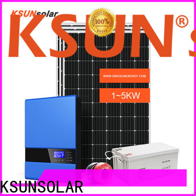 KSUNSOLAR best off grid solar power system manufacturers for Environmental protection