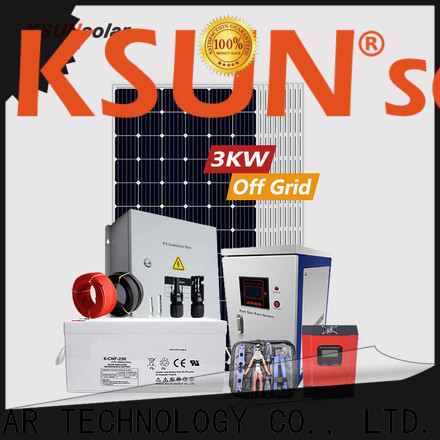 KSUNSOLAR off grid solar system suppliers Supply for Environmental protection