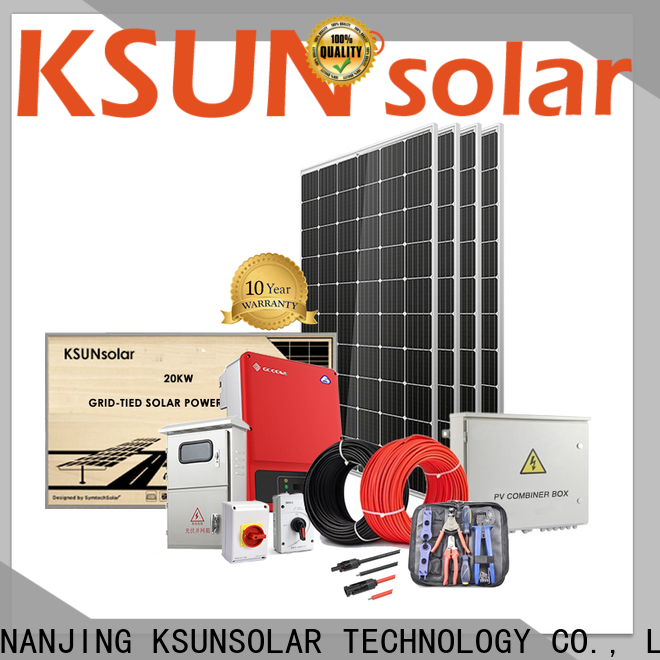 KSUNSOLAR Latest grid tied solar panel system manufacturers for Environmental protection