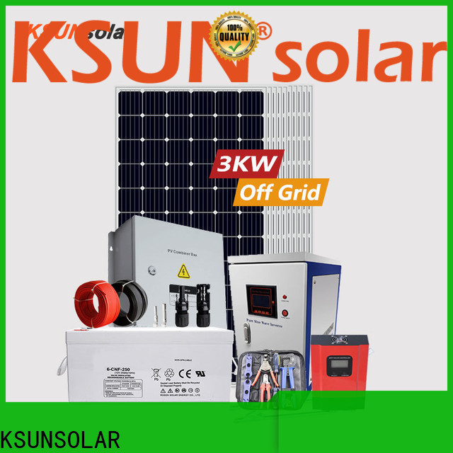 KSUNSOLAR off grid solar system price factory for powered by