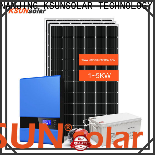 KSUNSOLAR off grid solar energy systems manufacturers for Power generation