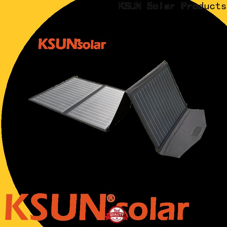 Custom folding solar panel for powered by