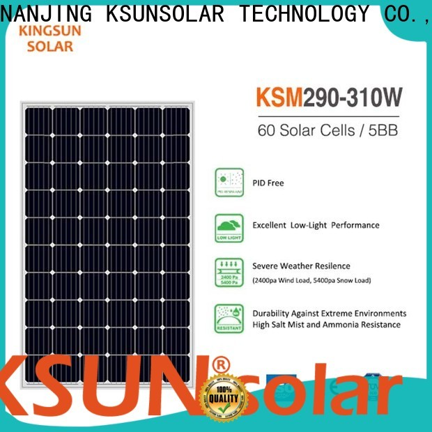 KSUNSOLAR cheap monocrystalline solar panels factory for Environmental protection