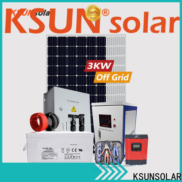 KSUNSOLAR Top off grid solar panel kits for sale manufacturers For photovoltaic power generation