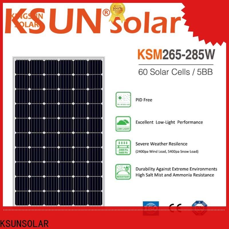 KSUNSOLAR monocrystalline solar panel manufacturers factory for Power generation
