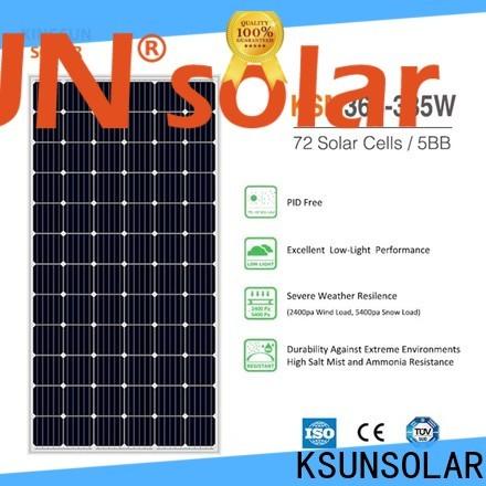 KSUNSOLAR Custom monocrystalline silicon panels price Suppliers for Power generation