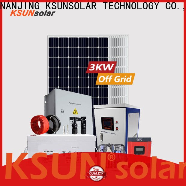 KSUNSOLAR Latest off grid solar panel system Supply for powered by
